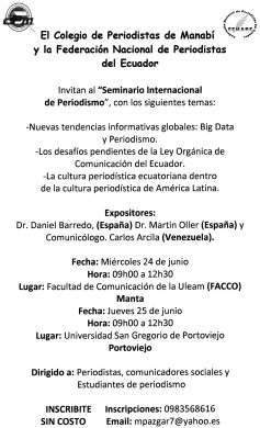 seminario manta, 2015