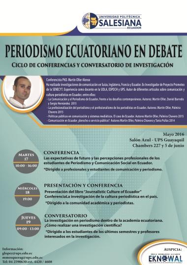 AFICHE seminario investigación Guayaquil, mayo 2016