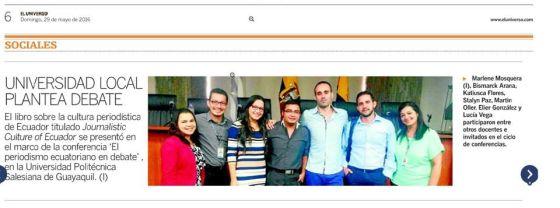 nota de prensa diario El Universo