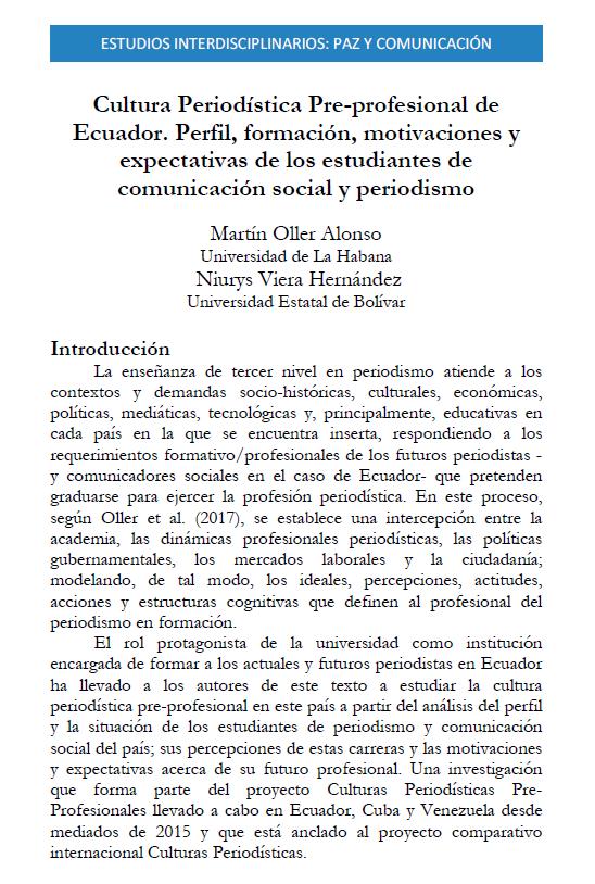 artículo estudiantes Ecuador 2019, portada